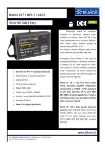 Miernik Rover Hd Tab 4 Easy Karta Katlogowa Phu Awpol
